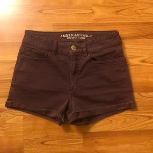 High rise shortie shorts